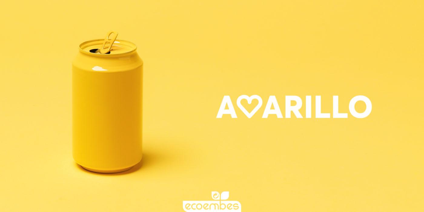 lata aceite contenedor amarillo